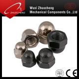 Kohlenstoffstahl-Grad 4 6 8 10 12 Nickel überzogene schwarze überzogene Hexagon-Abdeckung-Kapselmutter DIN1587