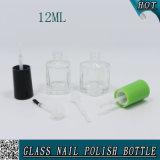 12ml de vierkante Duidelijke Fles van het Nagellak van het Glas met Schroefdop