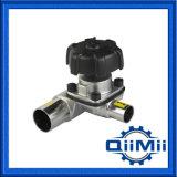 Tipo manual/neumático/de Tee/U/válvula sanitaria inferior mini/del tanque de diafragma