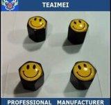 Tampões de válvula personalizados do pneu do centro da liga do metal do logotipo do sorriso do carro com Keychain