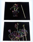 DIY Children Gold Scratch Art Dessin de papier Scratch Off Card avec stylo Impression Image de chat