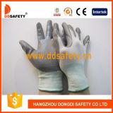 白いナイロン灰色のニトリルの手袋Dnn328