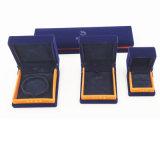 Caixa personalizada ODM do terno do bracelete do pendente do anel da camurça do OEM (J51-E2)