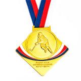 Antikes kupfernes Hockey-Medaillon für Andenken