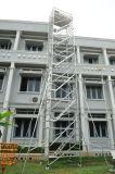 Baugerüst-mobiles Rad-Strichleiter-Rahmen-Baugerüst