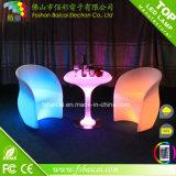 Meubles extérieurs de la vente chaude DEL, meubles allumés par sofa blanc de DEL