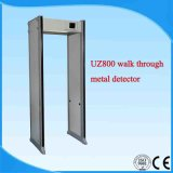 Zonas Múltiples Caminan a través del Detector de Metales Uz800 33 Zonas