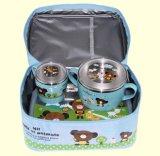 Saco ou caixa mais fresca para o almoço dos miúdos com teste padrão dos desenhos animados