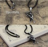 Античное серебряное ожерелье металла смерти покрынной меди с цепью веревочки шнура