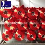 Le filé 300d/192f de FDY Ployester affinent le dopant de filé de filament de dénégateur teint