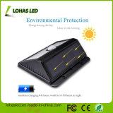 20 lumière solaire imperméable à l'eau du détecteur de mouvement de boîtier en plastique noir de couleur de DEL 4W DEL