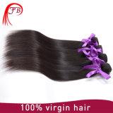 方法様式の加工されていない100人のバージンのブラジルの人間の毛髪の直毛
