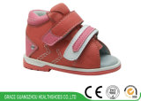 Красный цвет/ботинки младенческой безопасности младенца Brown вскользь для предотвращать плоскую ногу