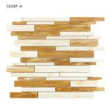 Brown-und weiße Farben-Küche Backsplash Dekoration-Glasmosaik-Wand-Fliesen