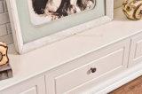 Moderne einfache weiße Kamin Fernsehapparat-Standplatz-Ausgangsmöbel (348B)