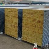 Пожаробезопасные стальные панели толя панели сандвича Rockwool для здания дома