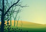 최상 더 싼 가격 가정 훈장 유화를 위한 새로운 디자인 나무 조경 작풍