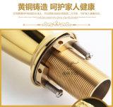 Kies Mixer van het Bassin van de Lamp van het Messing van de Luxe van het Handvat de Gouden Magische (uit zf-M28)