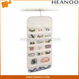 Saco de suspensão cosmético não tecido do armário do bolso do organizador do armazenamento da jóia