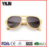 Les lunettes de soleil en bambou normales de Ynjn vendent en gros