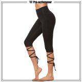 Pantaloni su ordine all'ingrosso di yoga delle ghette di ginnastica di donne di usura di forma fisica