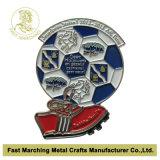 サンドブラスティングを用いる金によってめっきされるバッジ、昇進のギフトの金属の折りえりピン