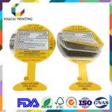 Etiquetas adhesivas impresas papel plástico del cuidado de la belleza