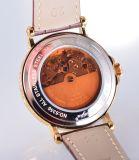 가죽 시계 줄을%s 가진 제조자 남자의 시계 기계적인 시계