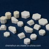 Alto resistente al desgaste de la baldosa cerámica de alúmina hexagonal para soluciones industriales de desgaste