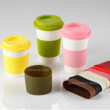 Zoll personifizierte mehrfachverwendbare Silikon-Kaffeetasse-Hülse
