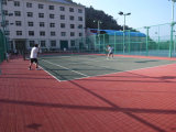 Plancher extérieur poreux de court de tennis, utilisation tous temps et court de tennis d'arrière-cour