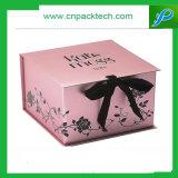 Rectángulo de regalo cosmético modificado para requisitos particulares de la cinta de la cartulina/rectángulo de joyería del embalaje