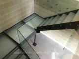 Escadas de vidro do projeto moderno e todas as escadarias de vidro para a sala de visitas