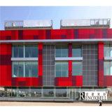 El panel de aluminio decorativo revestido de PVDF/del PE para externo/el interior