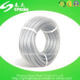 Boyau renforcé transparent de débit industriel de l'eau de fil d'acier de PVC