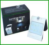 Ce esperto solar RoHS solar da lâmpada de parede do diodo emissor de luz & do sensor do diodo emissor de luz da parede da luz