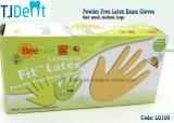 Desechable Fuerte Stretchable Anti-Bacteria en polvo libre de látex guantes de examen quirúrgico (LG100)