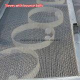 Tamis vibrant linéaire de sable de silice d'acier inoxydable de pièce de contact