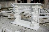 Mensola del camino di marmo bianca del fiore di bordi del camino (SY-MF019)