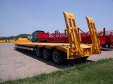60 тонн низкий кровати трейлер Semi с замками закрутки контейнера