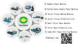 Servilleta de papel automática de alta velocidad de tejido de la impresión del buen precio que hace la máquina