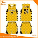 Tipo superior basquetebol personalizado Jersey do Sublimation com alta qualidade