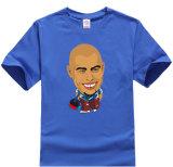 T-shirts manches courtes pour hommes 180GSM 100% coton avec impression par transfert de chaleur