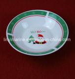 Groene Kleur van de Kom van het Ontwerp van Kerstmis van de kerstman de Ceramische