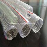 Boyau hydraulique renforcé en plastique de débit industriel de l'eau de fil d'acier de PVC