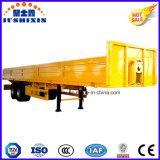 2 de Semi Aanhangwagen van de Lading van de as met Zijgevel met Colum