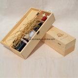 Rectángulo de madera portable del vino de la alta calidad de encargo exquisita