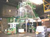 Высокое качество машина штрангя-прессовани пленки 3 слоев дуя с поднимающее вверх роторным
