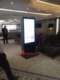 55インチ表示を広告する二重スクリーンLEDデジタルの表記の表示