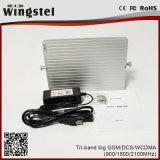 impulsionador móvel poderoso do sinal de 1200m2 GSM/Dcs/WCDMA 900/1800/2100MHz com antena